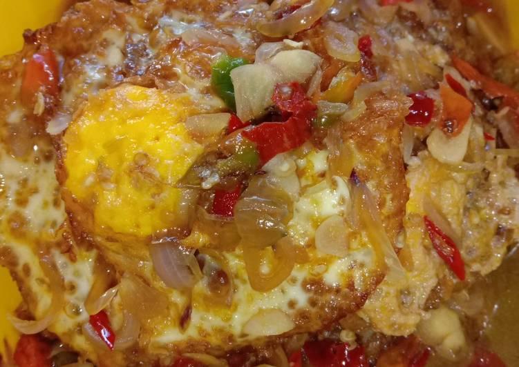 Telur Ceplok kuah kecap