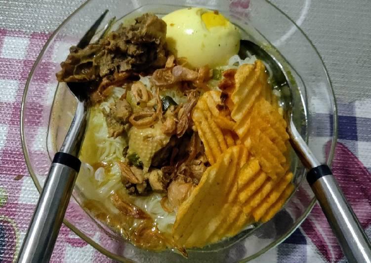 Nasi Soto ayam rumahan