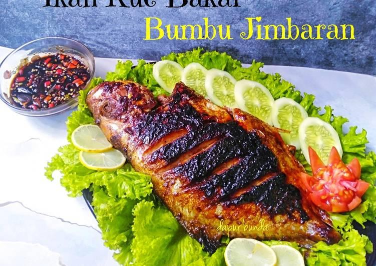 Ikan kue bakar bumbu Jimbaran