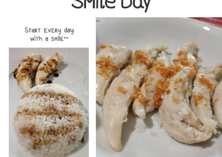 Nasi Ayam ala Hainan Simple