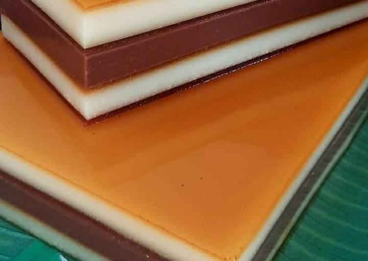 Puding lapis surabaya karamel