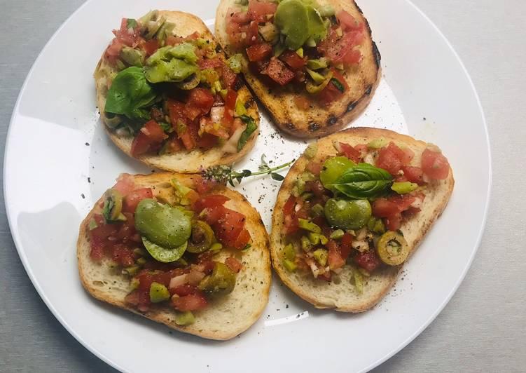 Grzanki z salsą z bobu i pomidora 🌱 główne zdjęcie przepisu