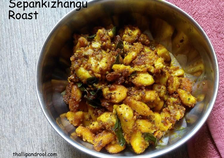 How to Make Ultimate Sepankizhangu(Arbi) Roast / Taro Root Roast