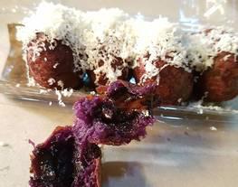 Bola-bola ubi ungu coklat lumer