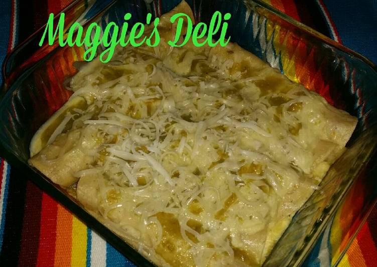 Enchiladas verdes (al estilo de Mejjicanna)