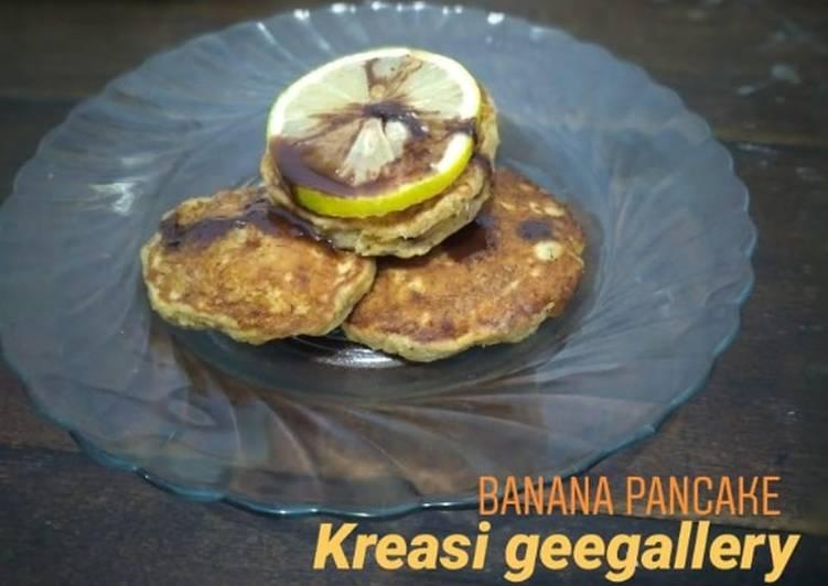 Resep 185. Banana pancake sehat Bikin Jadi Laper