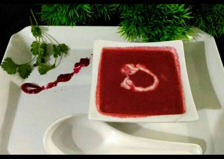 Simple Way to Make Super Quick Homemade Beetroot soup