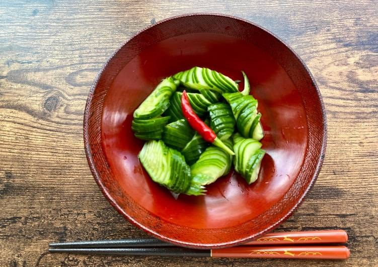 Steps to Prepare Super Quick Homemade Japanese Cucumber Pickle