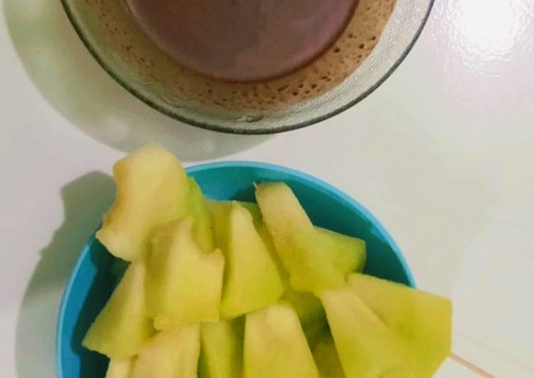 Es melon coklat