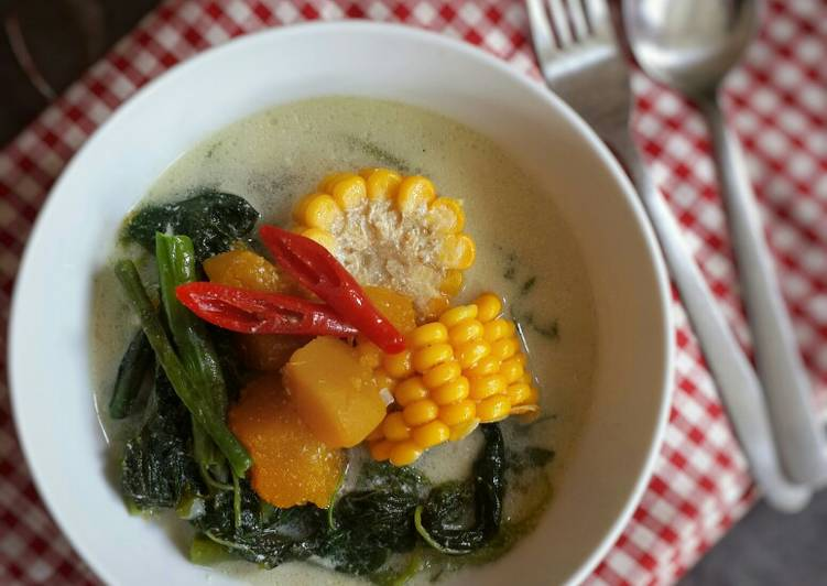 Gangan belamak (sayur bersantan)