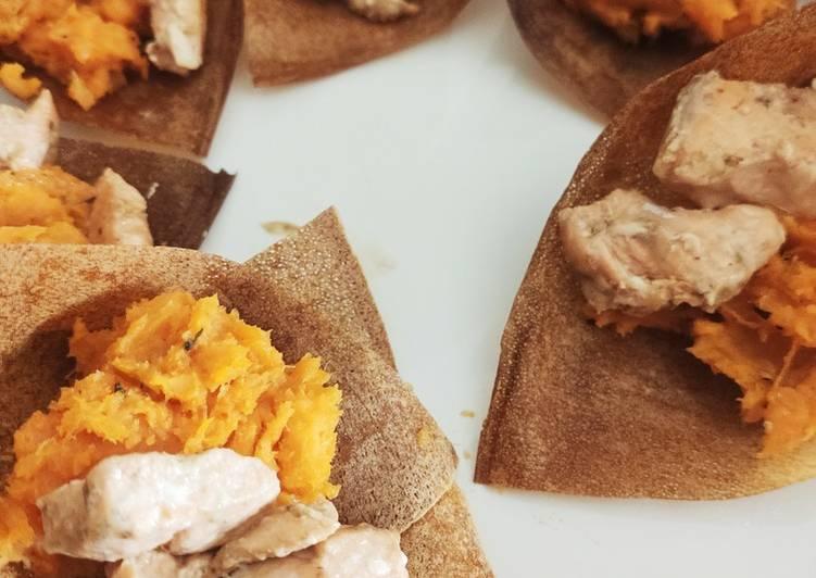 Comment faire Cuire Parfait Bateau patate douce & saumon