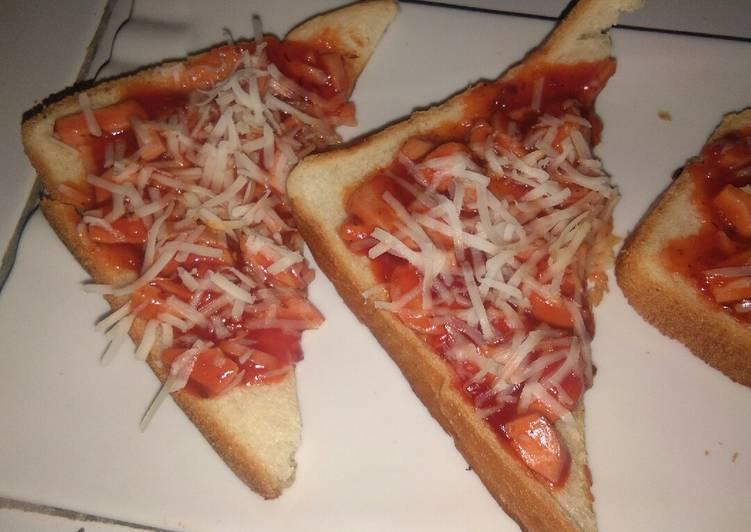 Pizza Roti Tawar Teflon Simple