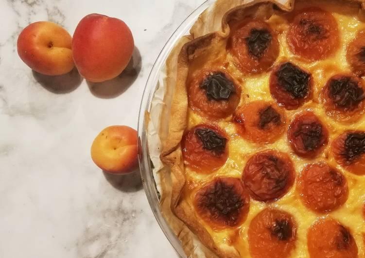 Recette: Parfait Tarte aux abricots et à la crème pâtissière