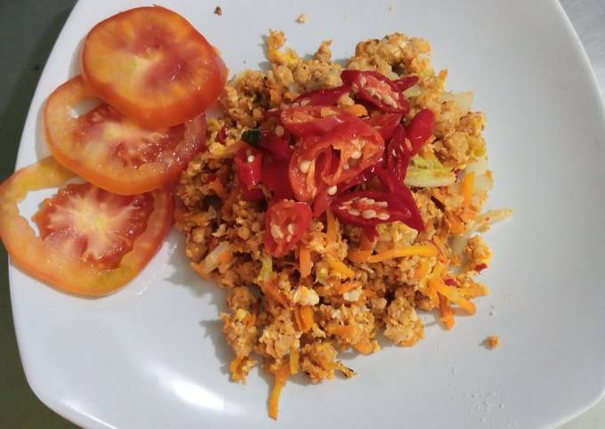 Nasi goreng Oatmeal (resep diet 1)