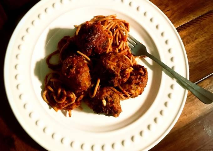 Spaghetti with Fullblood Wagyu Beef Meatballs