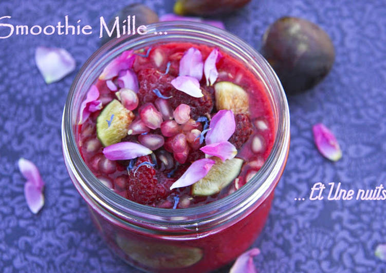 Easiest Way to Cook Perfect Smoothie Mille et Une nuits