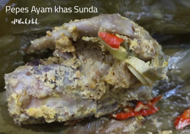 Pepes Ayam khas Sunda