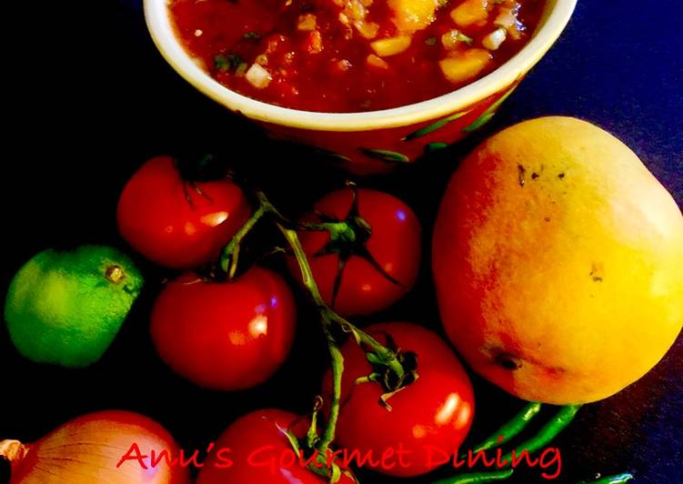 Recipe of Homemade Hot, Spicy 'n' Sweet Tomato-Mango Salsa