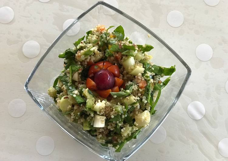15 Minute Easiest Way to Prepare Favorite Quinoa and couscous salad