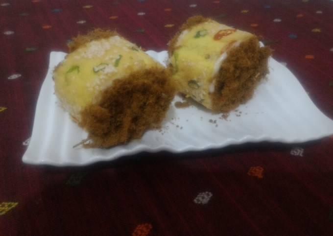 Beef floss Roll Cake #bolu gulung abon