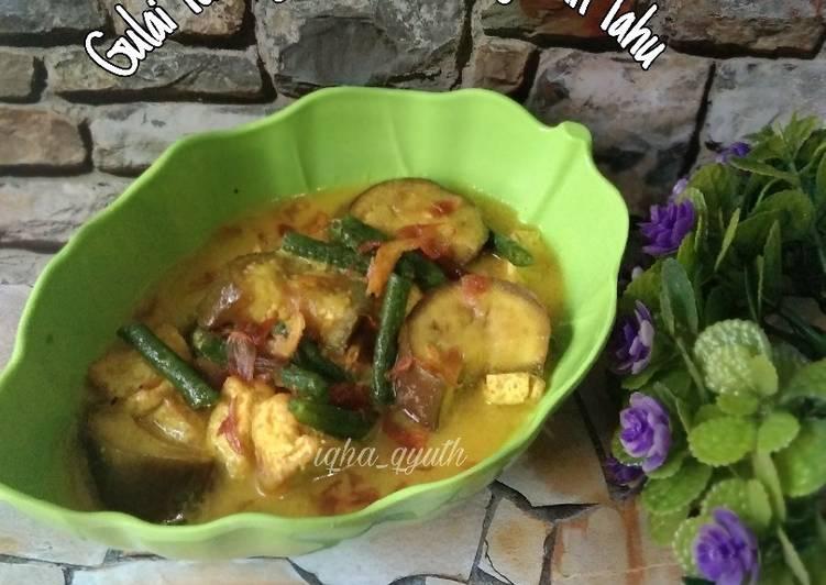 Gulai Terong Kacang Panjang Tahu - cookandrecipe.com