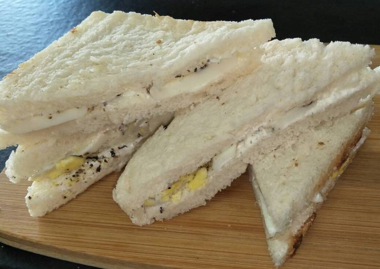 Recipe of Any-night-of-the-week Boiled Egg Sandwich