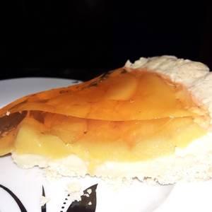 Tarta de Durazno con Crema pastelera y Gelatina