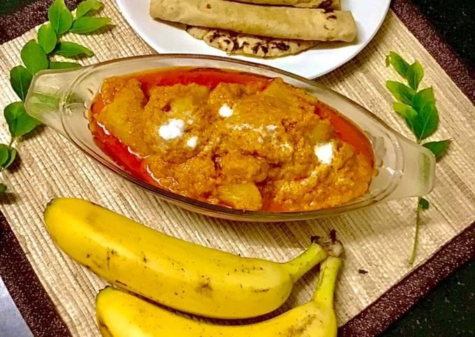 Punjabi Raw Banana Sabzi