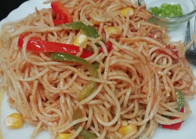 Steps to Prepare Homemade Corn Noodles