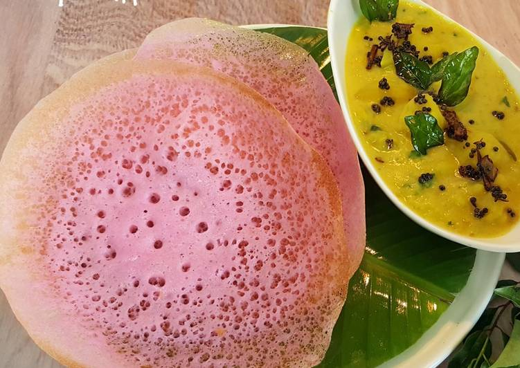 Recipe: Yummy Beetroot Appam & Potato Stew
