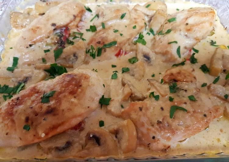 Creamy mushroom chicken breast