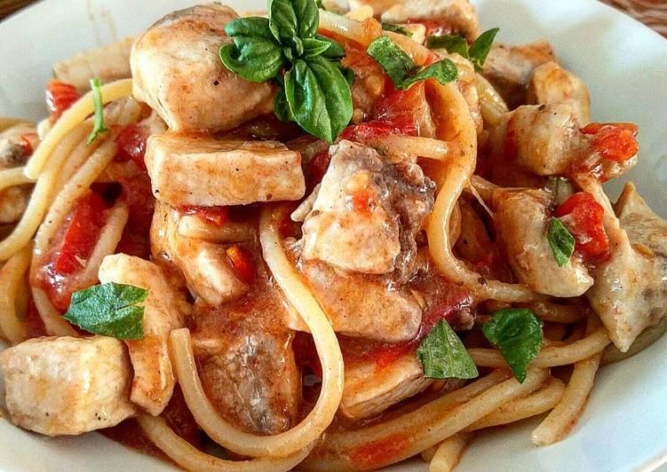 Spaghetti allo Spada e Melanzane