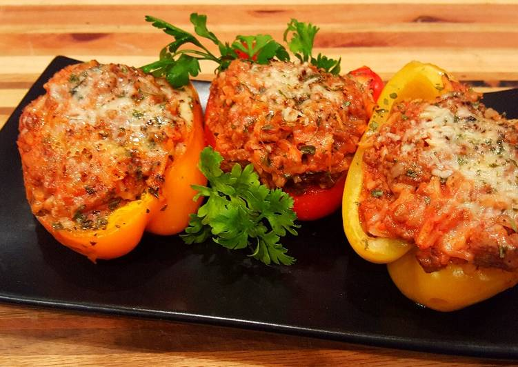 Mike's Meat Stuffed Bell Peppers