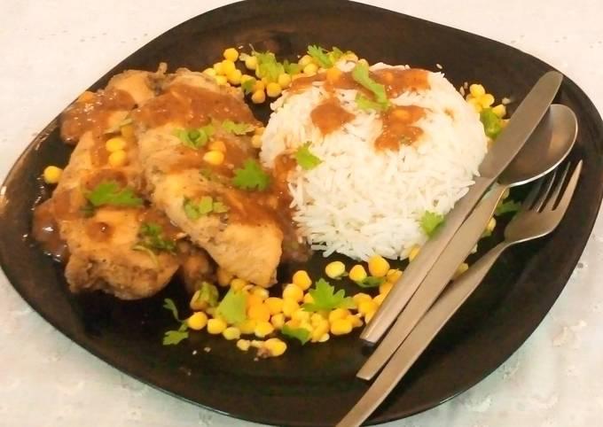 Chicken Steak with Corn