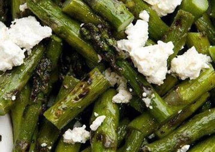 Easiest Way to Make Award-winning #salads# Roast asparagus with goat cheese