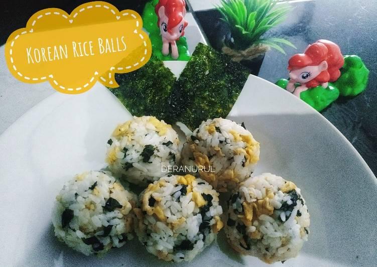 Resep Korean Rice Balls