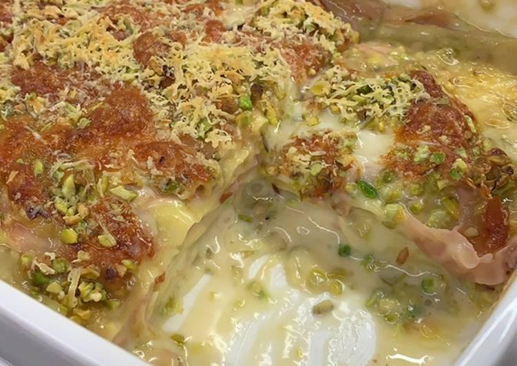 How to Make Perfect Lasagna mortadella and pistachios