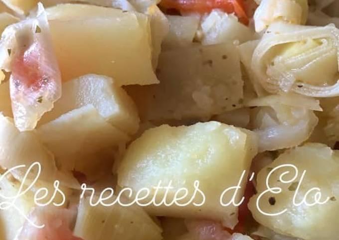 Poêlée poireaux / pomme de terre au Cookeo