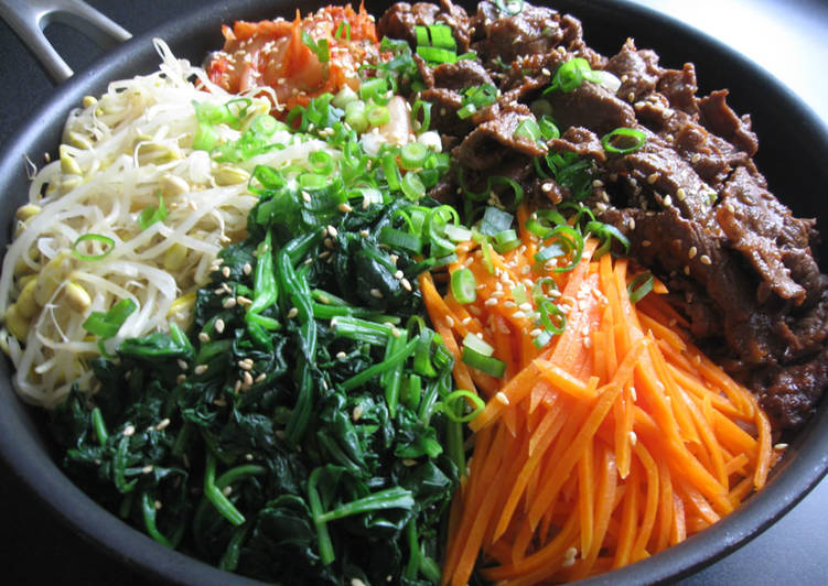 Easiest Way to Prepare Delicious Bibimbap-Inspired Beef Mazegohan