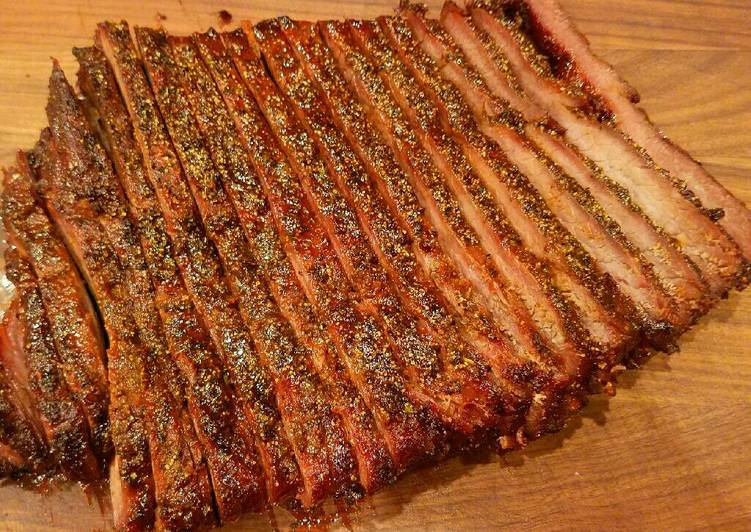 Mike's Smoked Peppered Beef Brisket