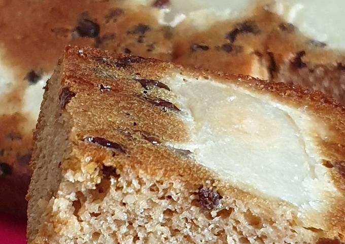 Gâteau renversé poires/raisins secs ss MG