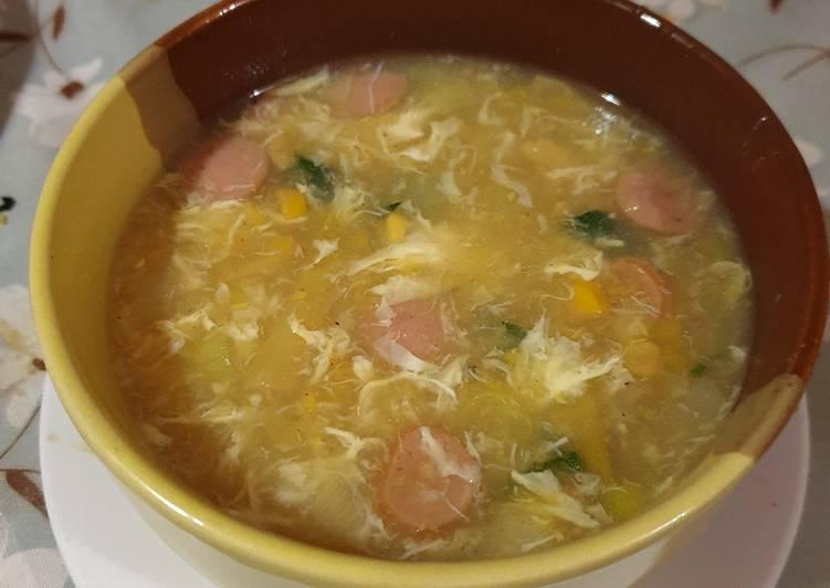 Bagaimana Mempersiapkan Resep Yummy Dari Sup Jagung, Asparagus dan kepiting