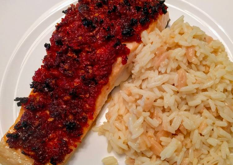 Recipe: Succulent Salmon with Sun-Dried Tomatoes and Garlic