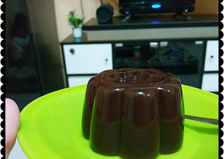 resep cara membuat Puding cokelat beng-beng