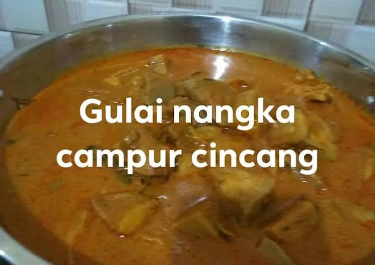 Gulai nangka plus cincang