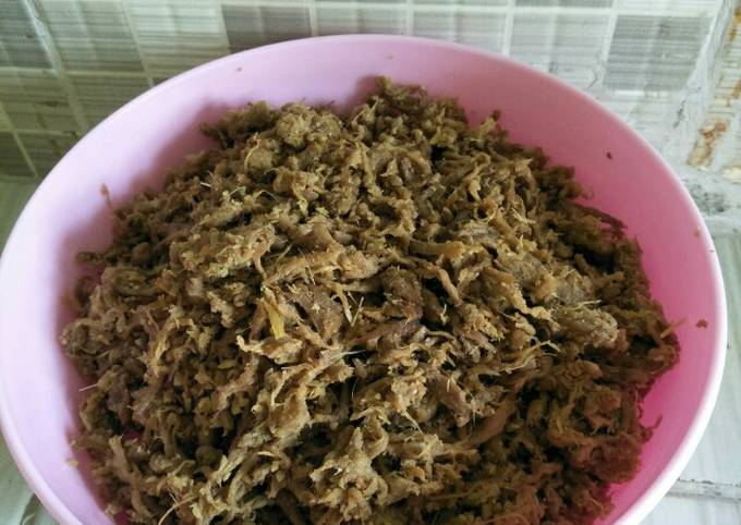 Abon sapi basah (isian bakpao, puff pastry, lemper, mantau,dll)