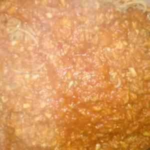 Salsa de pescado para pastas secas