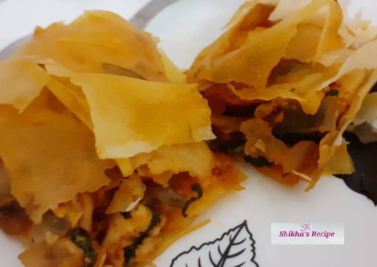 Discover How to Elevate Your Mood with Food Spanakopita (veg) traditional Greek pastry