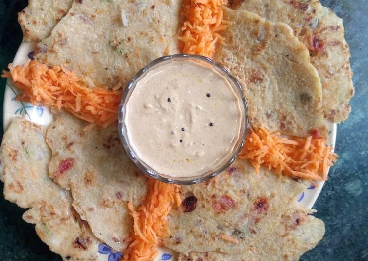 Curd semolina multi grain pancake
