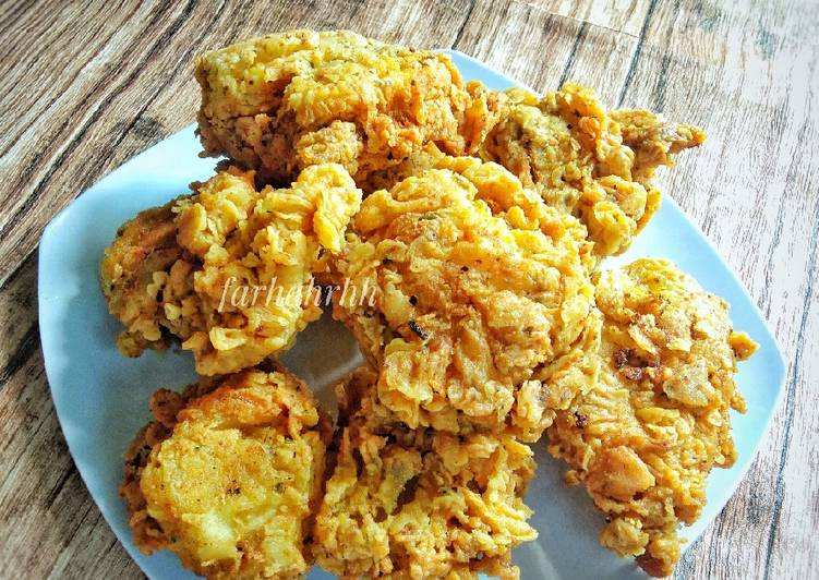 Resep Membuat Hot & Spicy Chicken Ala KFC Super Kribo Anti Gagal